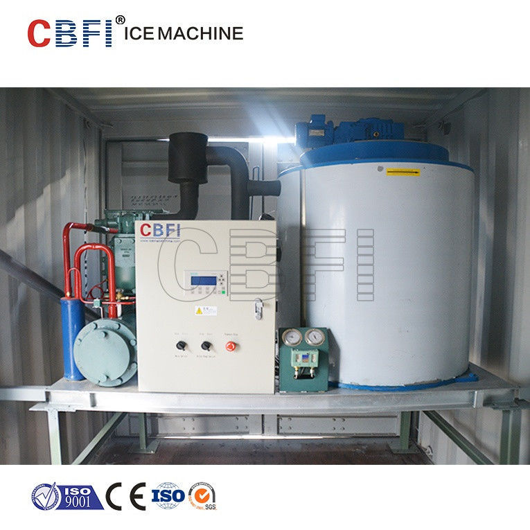 1mm - 2mm Thickness Flake Ice Machine With Germany Bitzer Compressor