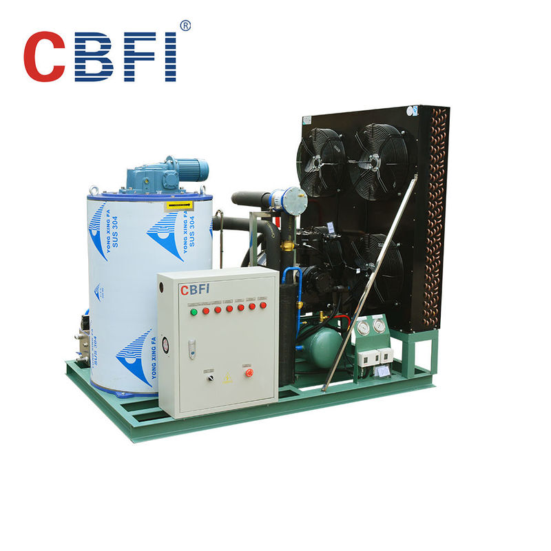 -5 ℃ Germany Bitzer Compressor Flake Ice Machine Air / Water Cooling